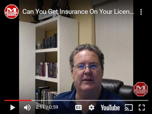 Can You Insure Your License - Video
