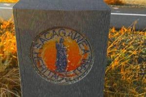 Sacajawea Heritage Trail Marker