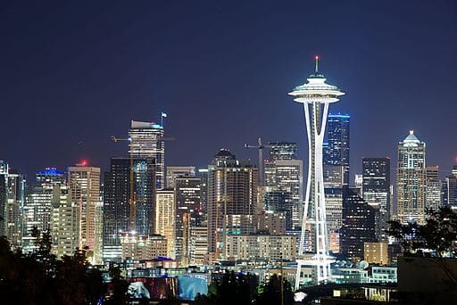 Seattle Space Needle Night Time
