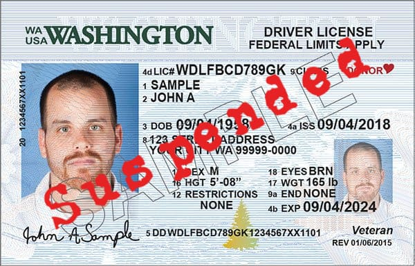 Suspended Washington Drivers License
